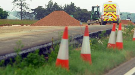 The first stretches of the new road have been surfaced. Photograph Simon Parker