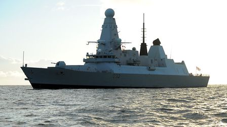 HMS Dauntless off the coast of Great Yarmouth. Viewed from the Caister Lifeboat. Picture: James Bas