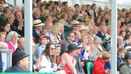 2013 Royal Norfolk Show.People watching the Kangaroo Kid in action in the grand ring.Picture: James