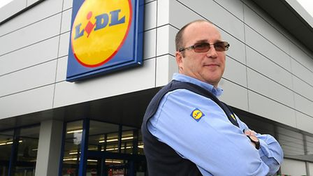 Lidl store, Holt Road, Cromer. Store manager, Peter Howell.PHOTO: ANTONY KELLY