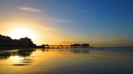 Favourite #Norfolk beach? It has to be #Cromer at sunset #NorfolkIs Twitter photo: Kate Royall (@cr
