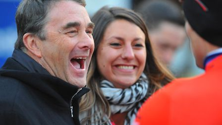 Nigel Mansell enjoys celebrating his Team UK Youth's victory in the Aylsham round of the Pearl Izumi