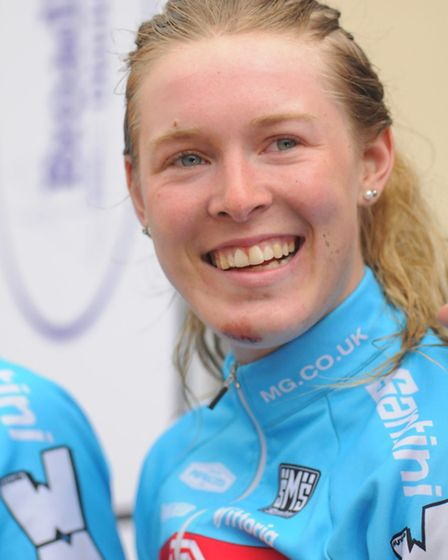 Hannah Barnes was all smiles after completing her Johnson Health Tech Grand Prix title success with
