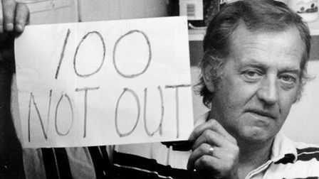 Mr Hawes pictured during his protest, in 1993.