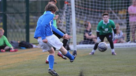 Thorpe five a side action.