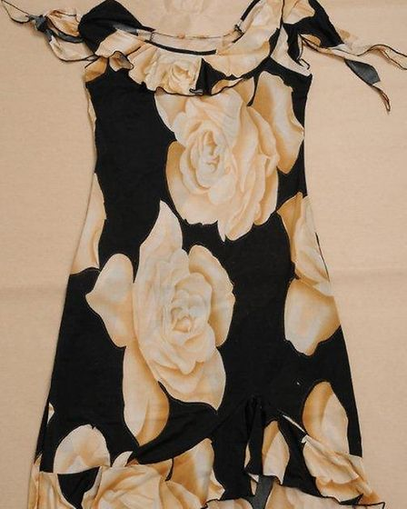 Picture of dress worn by woman whose body was found in the lake at UEA. Pic: submitted