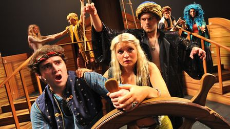 Members of the Theatre Royal Arts Course rehearsing for their show Sinbad and the Pirate Curse. Sinb