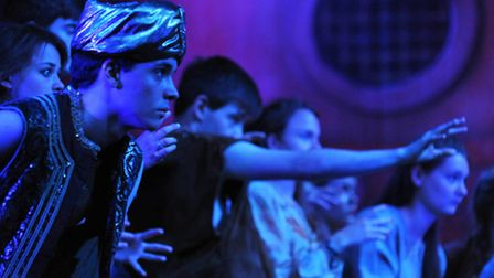 Members of the Theatre Royal Arts Course rehearsing for their show Sinbad and the Pirate Curse.PHOTO