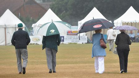 Rain stops play at Horsford during the Norfolk Cricket Festival match against Buckinghamshire.PHOTO