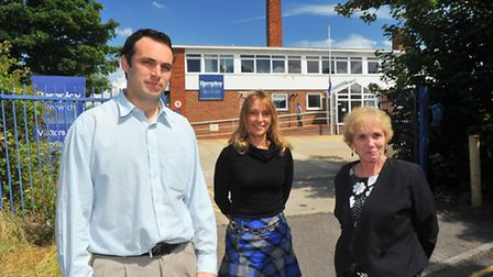 James Levy, Julie Gant and Susan Greenwood from the L and G Enterprise bid team at the Norwich Rempl