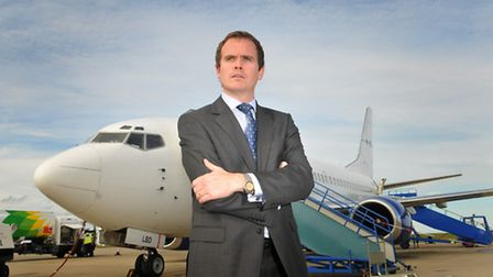 Norwich Airport chief executive Andrew Bell.Photo by Simon Finlay