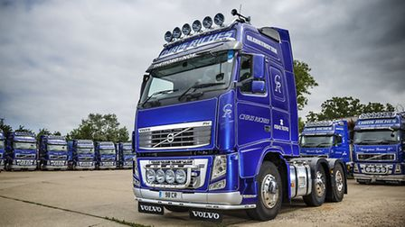 Riches Transport, in Thetford, has a new state-of-the-art Volvo truck which it is asking for names f