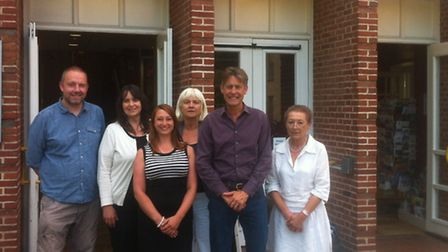 Former culture secretary Ben Bradshaw (second right), with (left to right) Adrian Cooke, director of