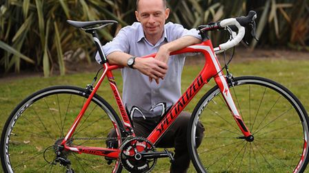 Paul Thompson who is taking on 6 biking challenges. Picture: Denise Bradley