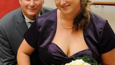 The first wedding at Great Yarmouth town hall.Newlyweds Julie Snell and Martin SnellPicture: James B