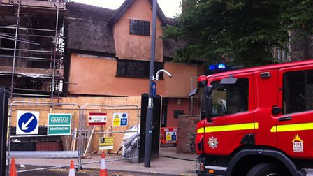 Fire at the former Casaccios cafe in Westlegate, Norwich