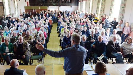 A public meeting was held by Heacham Parish Council to discuss plans for 350 new homes to be built i