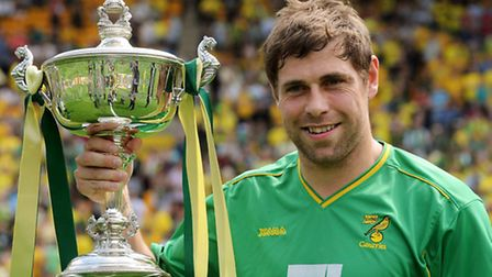 Grant Holt with the second of three player of the season awards. Photo: Bill Smith