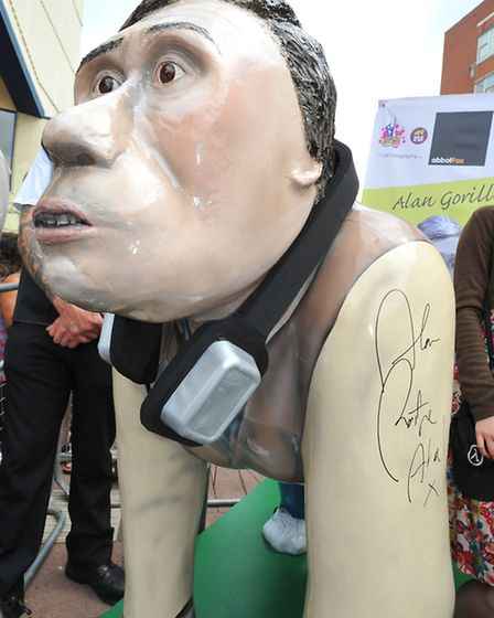 """The Alan Partridge film premier at the Hollywood Cinema where the star signed the GoGoGorillas """"Alan"""