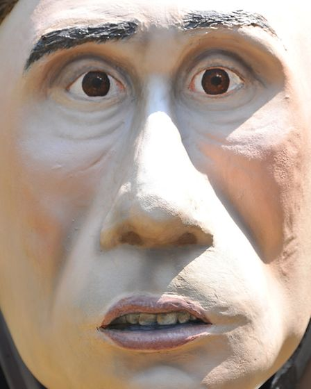 The new Alan Partridge GoGoGorilla which was unveiled by sponsor Samuel Le Good of abbotFox and orga
