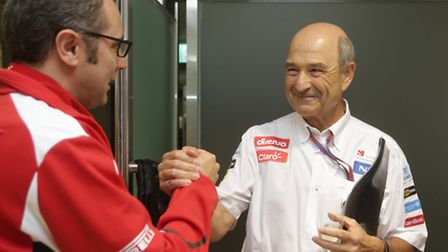 Sauber owner Peter Sauber (right) has a few more financial worries on his mind than the team princip