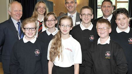 Official opening of Neale-Wade Academy. Clive Bush chief executive of the Active learning trust. Ste