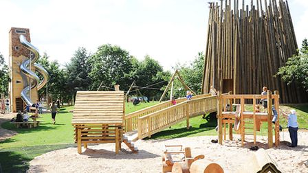 The newly opened Wild Rootz play area at Pensthorpe Nature Reserve. Picture: Ian Burt