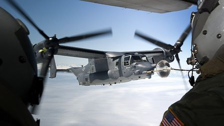 Two CV-22 Ospreys have begun flying out of RAF Mildenhall