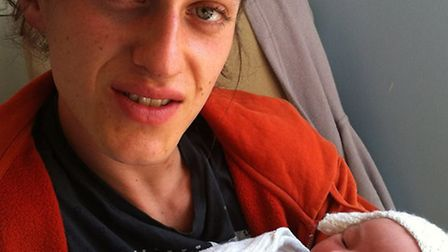 Tom Richardson, who died after a fire at his flat in Holls Lane, Norwich, with his daughter River