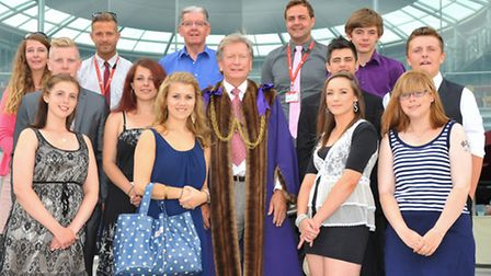 The Sheriff of Norwich Graham Creelman joins the last City College Norwich Prince's Trust team who r