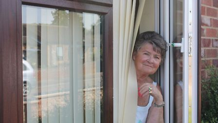 Olwen Smith of Bradwell where council bungalows have had new windows and doors.