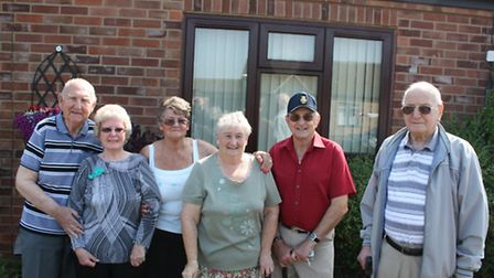 Sheltered housing tenants in the area who will benefit from the work. L-R: Stanley and Dorothy Hopwo