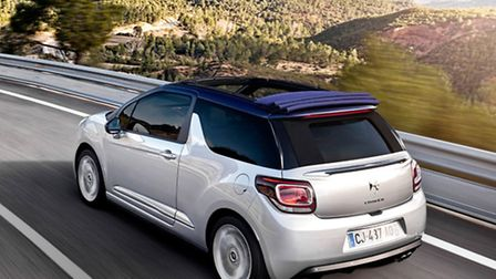 Citroen DS3 Cabrio can go topless or raise the roof at speeds up to 75mph.