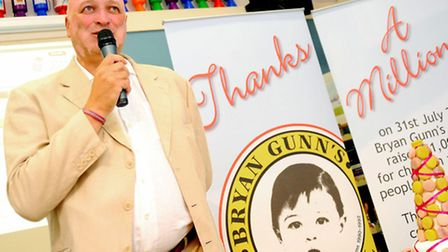 Bryan Gunn says thanks to everyone who helped raise over £1 million for the Bryan Gunn Appeal at th