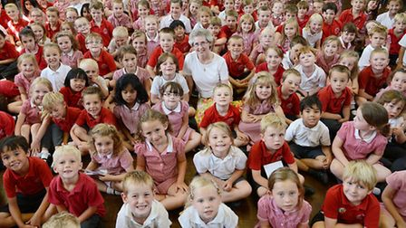 Joan Woodard is retiring after teaching at South Wootton Infant School for 32 years. Picture: Ian Bu