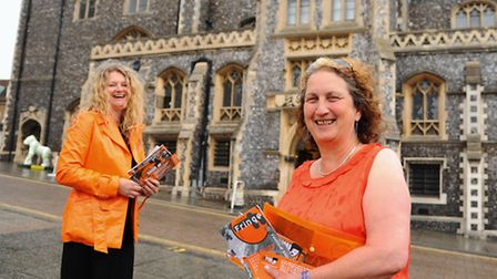 Organisers of Norwich Fringe, Marion Catlin, right, and Paula Sanchez, at the Guildhall. Picture: De
