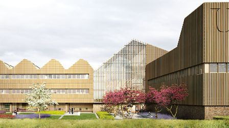 Artist impression of the Norfolk Bone and Joint Centre at Norwich Research Park.