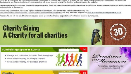 The Dove Trust website based at Bawdeswell has been suspended after a £250,000 shortfall