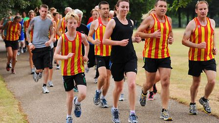 The Parkrun at Eaton Park in memory of the City of Norwich AC runner Monty Fairfoot. The City if Nor