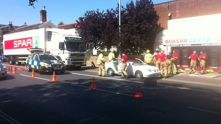 The scene of the crash on St Stephens Road.