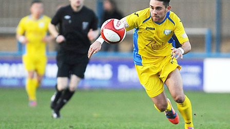 Steve Spriggs was back in the goals for the Linnets at the weekend. Picture: Ian Burt.