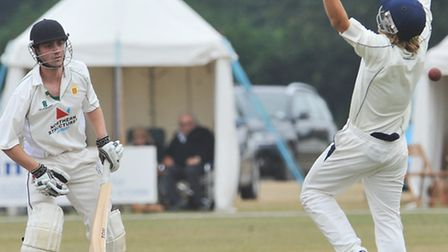 Northumberland put on 162 without loss in the first morning. The ball eludes Spelman as he has a hal