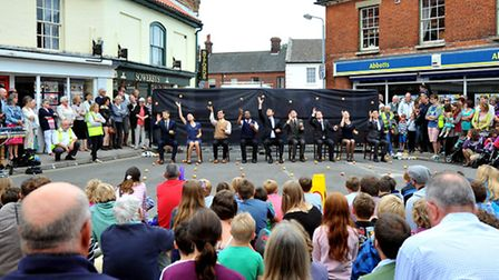 Gandini Juggling wowing the crowd at Holt Festival. Photo: Bill Smith