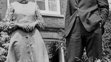 Dr Tom Stuttaford with his wife, the author Pamela Ropner, pictured for the EDP in 1970.