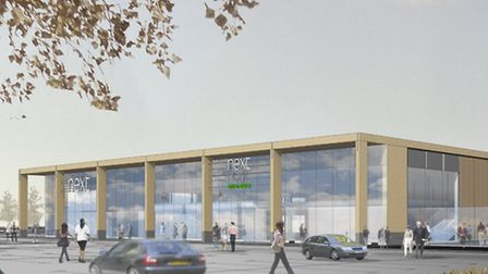 An artist's impression of the new Next Home and Garden store which could be built at Costessey.
