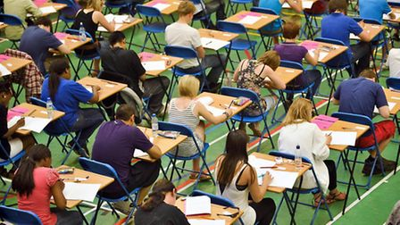Pupils across the country are collecting their GCSE results today. Photo: Ben Birchall/PA Wire