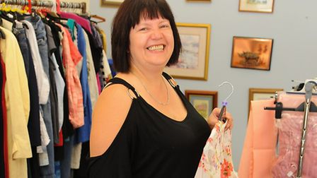 Manager Sam Hall in the new Hallswood Animal Sanctuary fundraising shop, at Suffolk Square. Picture: