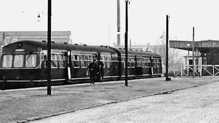 A diesel train at City Station. IMAGE COURTESY OF NORFOLK COUNTY COUNCIL.