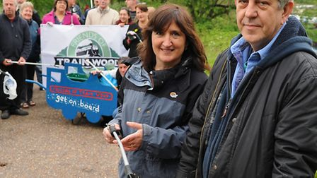 Friends of Train Wood, at the Marriott's Way, with organisers Lucy Galvin, 2nd right, and Friends ch