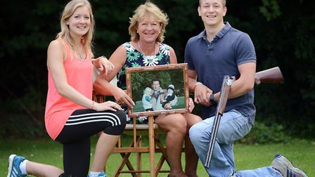 From left, Rosie, Sally and Tom Cross are relaunching the Brian Cross Memorial Trust, in a bid to re